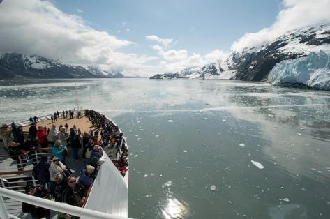 Alaska toward glacier