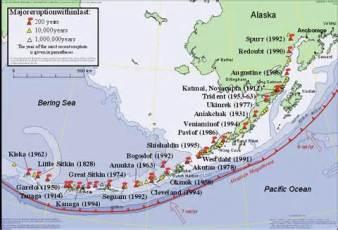 Alaska vulcanoes