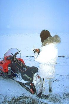 Inuit using GPS