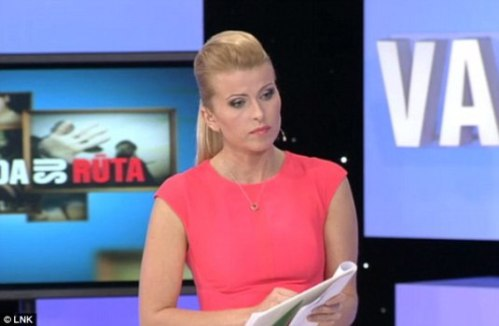 Lithuanian Talk Show An Hour with Ruta Photo credit Daily Mail, see link at bottom of post