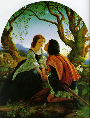Hesperus, the evening star, sacred to lovers by Joseph Noel Paton, 1857